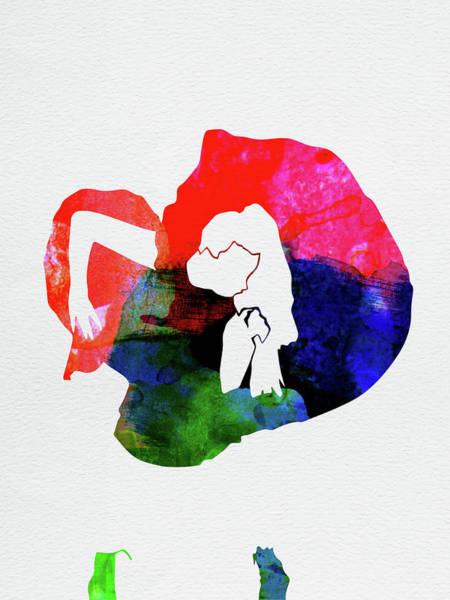 Wall Art - Mixed Media - Gaga Watercolor by Naxart Studio