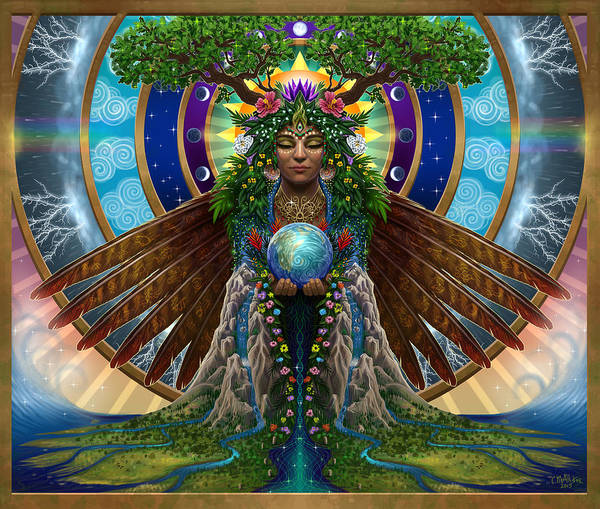 Wall Art - Painting - Gaia Sacred System by Cristina McAllister