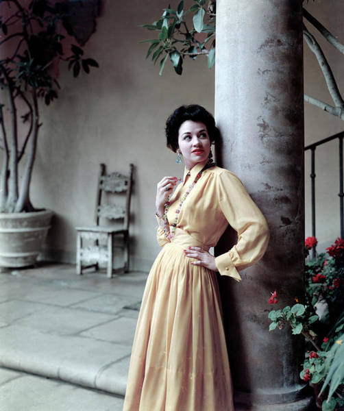 Photograph - Gal In Courtyard by Tom Kelley Archive