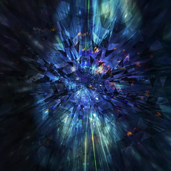 Digital Art - Galactic Crystal by Barry Costa
