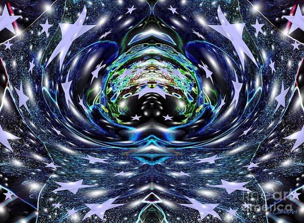 Digital Art - Galactic Wormhole by Jean Clarke
