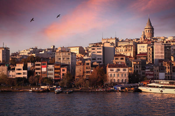 Wall Art - Photograph - Galata Tower And Beyoglu District In by Narvikk