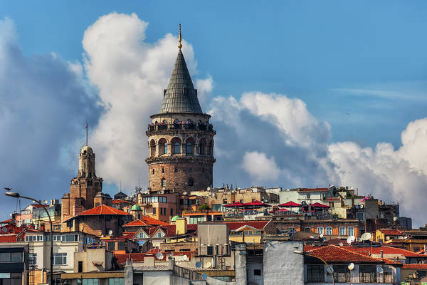 Wall Art - Photograph - Galata Tower In City Of Istanbul by Artur Bogacki