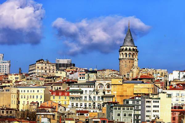 Turkiye Wall Art - Photograph - Galata Tower Istanbul by John Rizzuto