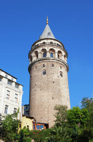 Galata Photograph - Galata Tower, Istanbul, Turkey by Laurie Noble