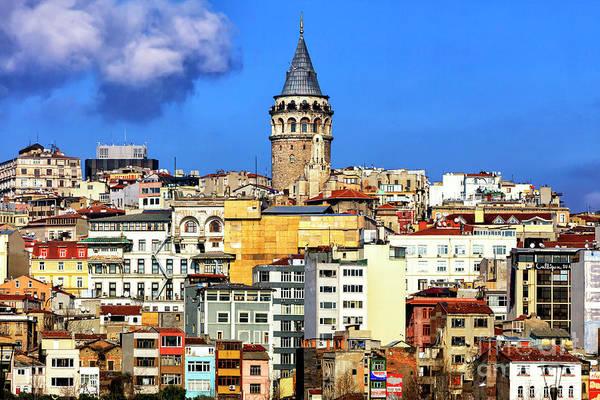 Turkiye Wall Art - Photograph - Galata Tower Profile In Istanbul by John Rizzuto