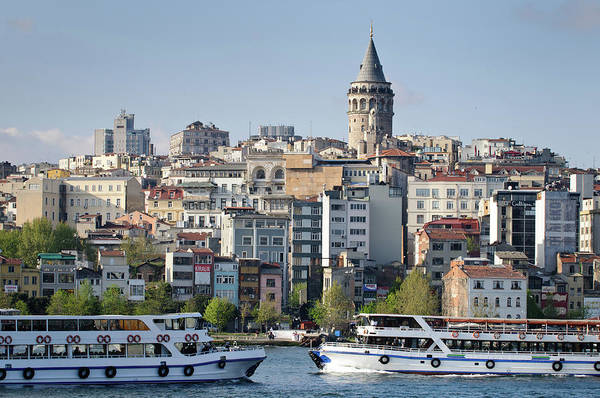 Galata Photograph - Galata With Galata Tower by Photograph By Dr. Andreas Zachmann
