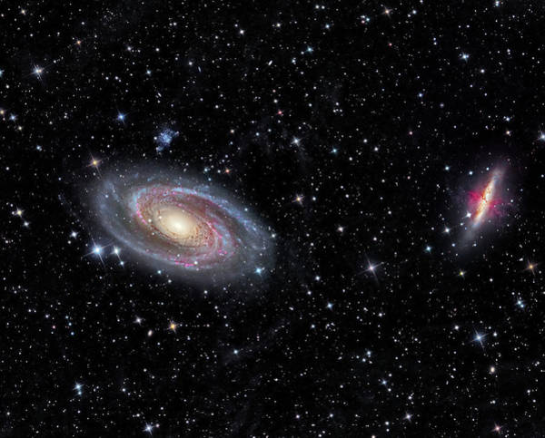 Photograph - Galaxies Messier 81 And Messier 82 by Reinhold Wittich