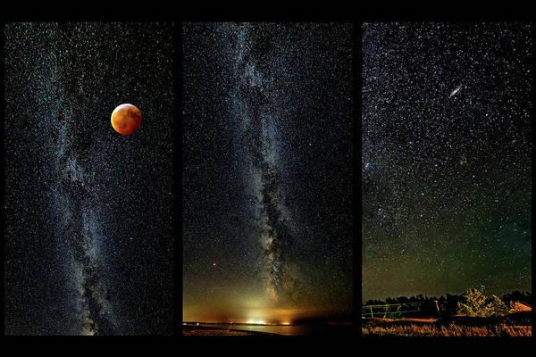 Sauble Beach Photograph - Galaxies - Triptych 2 by Steve Harrington