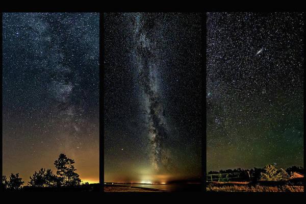 Sauble Beach Photograph - Galaxies - Triptych by Steve Harrington
