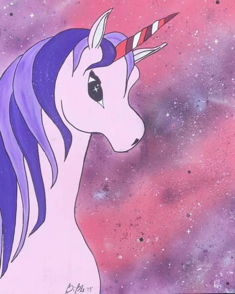 Pink Painting - Galaxy Unicorn  by HumbleBee