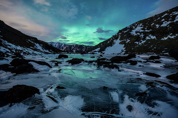 Photograph - Gale-force Aurora H by Tim Newton
