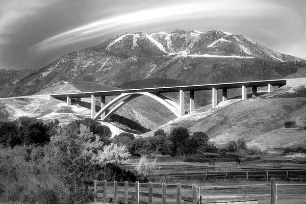 Wall Art - Photograph - Galena Creek Bridge B W by Donna Kennedy
