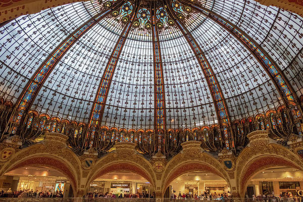 Galeries Lafayette Photograph - Galeries Lafayette Haussmann, Paris by Iordanis Pallikaras