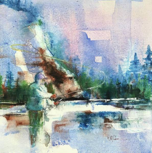 Trout Watercolor Wall Art - Painting - Gallatin Loop by Robert Yonke