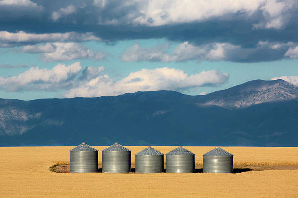 Photograph - Gallatin Valley Bins by Todd Klassy