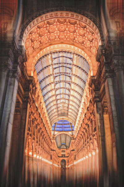 Italia Photograph - Galleria Vittorio Emanuele II Milan Italy By Night by Carol Japp