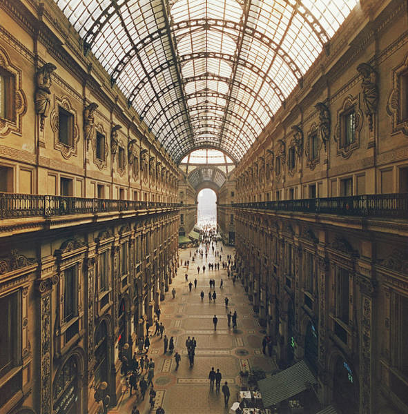 Italy Photograph - Galleria Vittorio Emanuele II by Slim Aarons