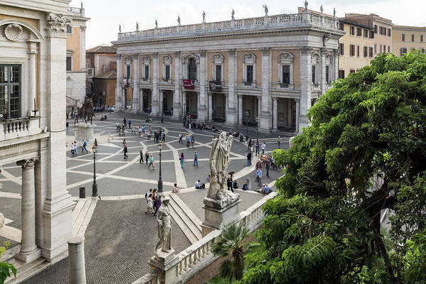 Photograph - Gallivanting Around In Rome Italy - Michelangelos Exquisite Piazza Del Campidoglio by Georgia Mizuleva