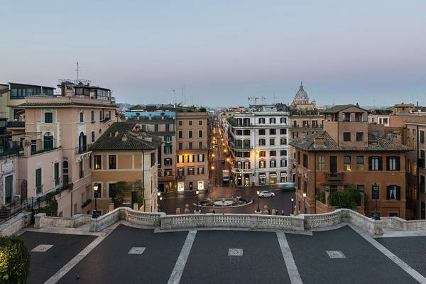 Photograph - Gallivanting Around In Rome Italy - Soft Dawn Over The Spanish Steps by Georgia Mizuleva