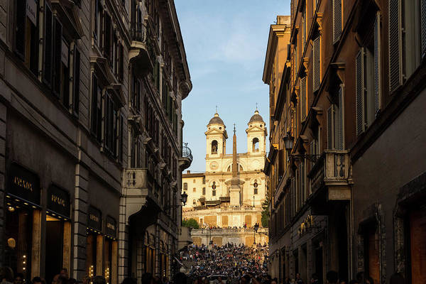Photograph - Gallivanting Around In Rome Italy - Via Condotti Passeggiata Towards The Spanish Steps by Georgia Mizuleva