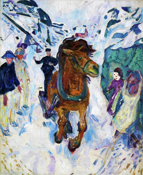 Wall Art - Painting - Galloping Horse - Digital Remastered Edition by Edvard Munch