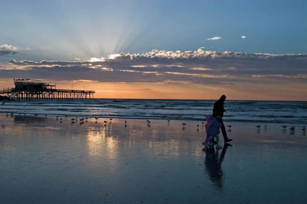Wall Art - Photograph - Galveston Beach Sunrise With Family by Dhuss