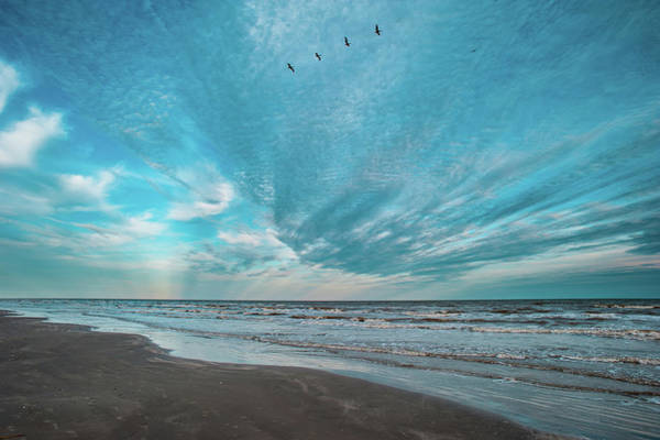 Photograph - Galveston Island First Light by Jeff Phillippi