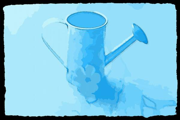 Milk Farm Restaurant Photograph - Galvonized Watering Can by Cathy Lindsey