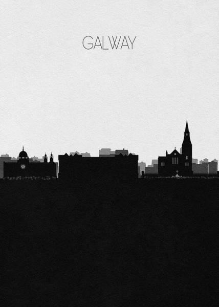 Digital Art - Galway Cityscape Art by Inspirowl Design