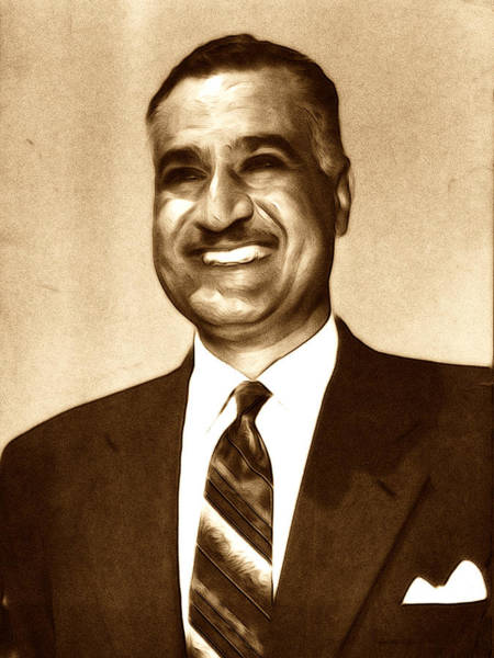 Digital Art - Gamal Abdel Nasser by Jeff Iverson