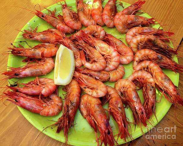 Digital Art - Gambas A La Plancha by Dee Flouton