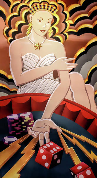 Wall Art - Digital Art - Gambling Goddess Mural - Las Vegas by Daniel Hagerman