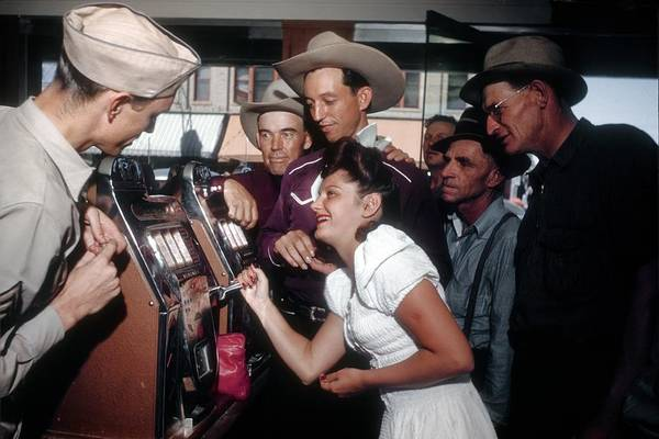 Photograph - Gambling In Vegas by Michael Ochs Archives