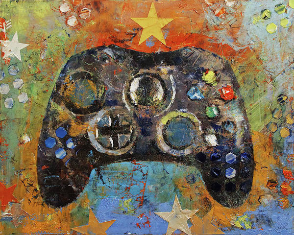 Wall Art - Painting - Game Controller by Michael Creese