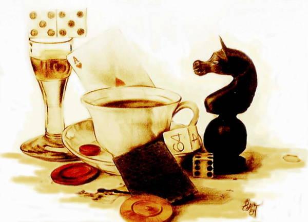 Drawing - Game Night by Barbara Keith
