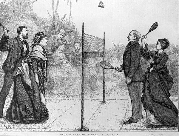 Freight Wall Art - Digital Art - Game Of Badminton by Hulton Archive