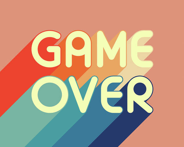 Gamer Digital Art - Game Over 2 by Jazzberry Blue
