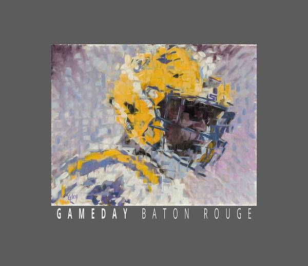 Wall Art - Painting - Gameday - Baton Rouge - White by Jeff Gloy