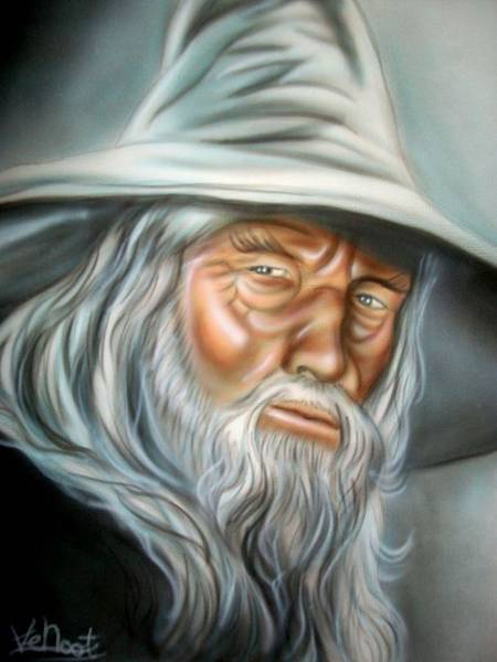 Wall Art - Painting - Gandalf by Vincent Noot