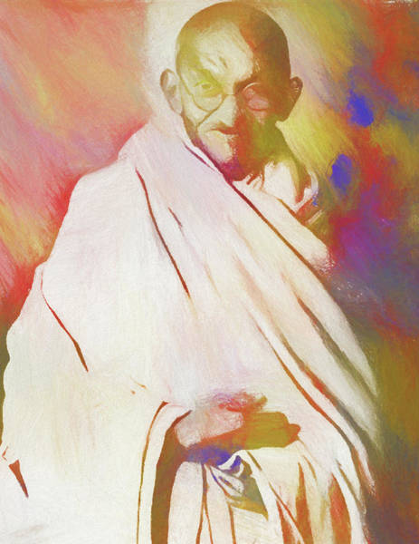 Wall Art - Painting - Gandhi by Dan Sproul