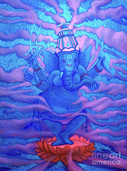 Wall Art - Painting - Ganesha by Brian Commerford