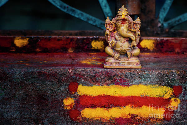 Wall Art - Photograph - Ganesha On A Rural Hindu Temple In India by Tim Gainey