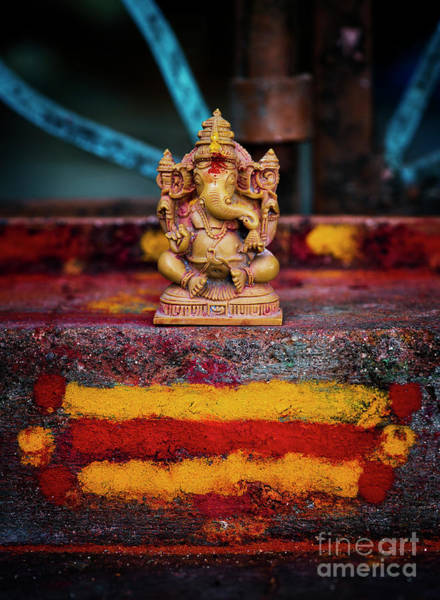 Wall Art - Photograph - Ganesha On A Rural Hindu Temple by Tim Gainey