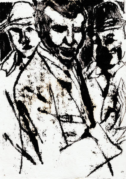 Drawing - Gangsters by Artist Dot