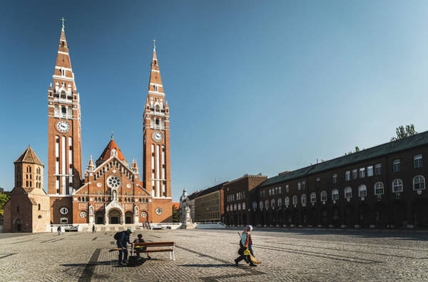 Photograph - Garbage Cleaners On Dom Square In Szeged  by Milan Ljubisavljevic