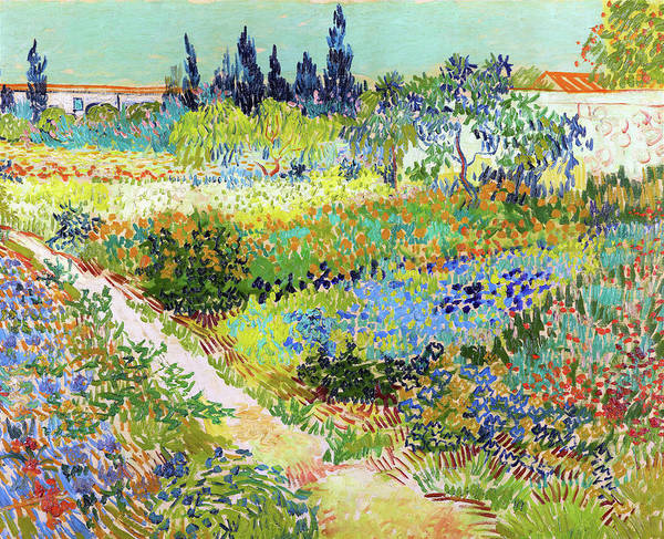 Wall Art - Painting - Garden At Arles, Flowering Garden With Path - Digital Remastered Edition by Vincent van Gogh