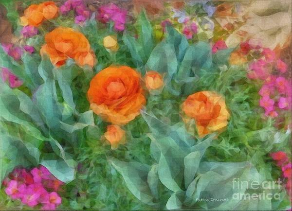 Digital Art - Garden Beauties by Kathie Chicoine