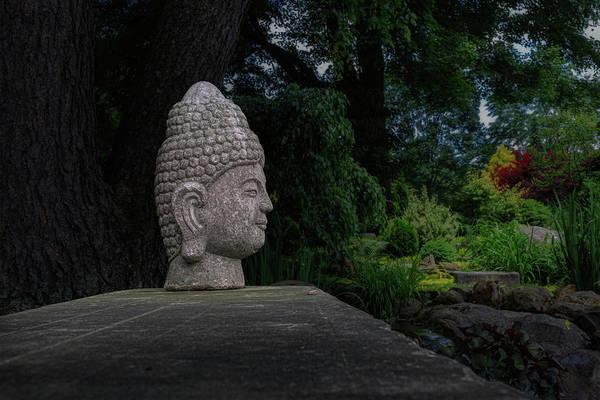 Wall Art - Photograph - Garden Buddha Sculpture by Tom Mc Nemar