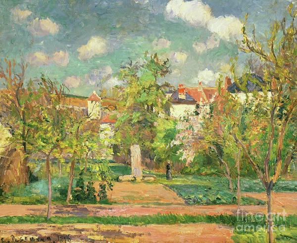 Wall Art - Painting - Garden, Circa 1876 by Camille Pissarro